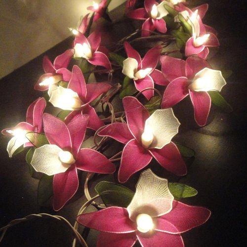 Magenta Home Decoration: Thai Vintage Handmade 20 Pink Magenta Orchid Flower Fairy