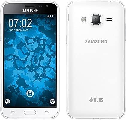 PhoneNatic Funda de Silicona Compatible con Samsung Galaxy J3 (2016) - Transparente Crystal Clear - Cover Cubierta + Protector de Pantalla