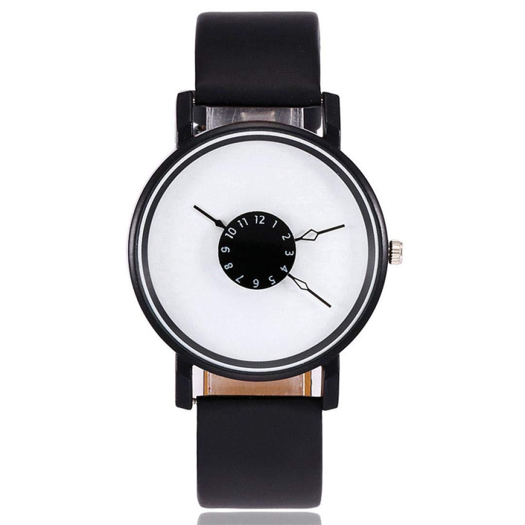 ManxiVoo Women's Casual Quartz Leather Band Newv Strap Watch Analog Wrist Watch (C)