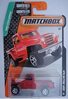 MATCHBOX MBX EXPLORERS RED JEEP WILLYS 4X4 84/120
