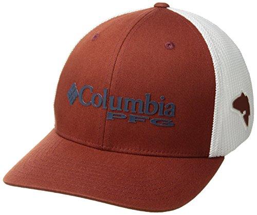 Columbia Standard PFG Mesh Ball Cap, Rusty, Red Fish, Small/Medium