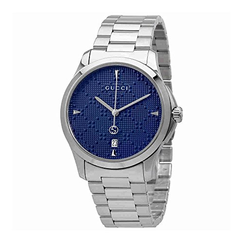Gucci G-Timeless Diamante Blue Dial Ladies Watch - Blue Gucci