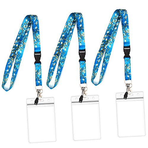 IDLanyard 3-Pack Cruise Lanyard with Water Resistant Name Badge Holder (Color1)