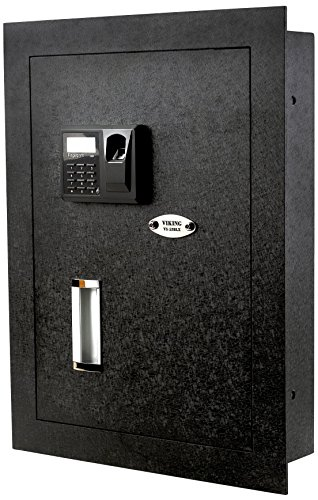 Viking Security Safe VS-52BLX Biometric Fingerprint Hidden Wall Safe Wall Cabinet Set