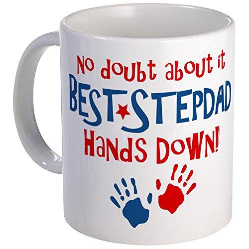 CafePress Hands Down Best Stepdad Mug Unique Coffee Mug, Coffee Cup