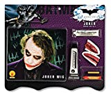 Face Mask Joker - Batman Deluxe Joker Wig And Make Up Kit, Black, One Size