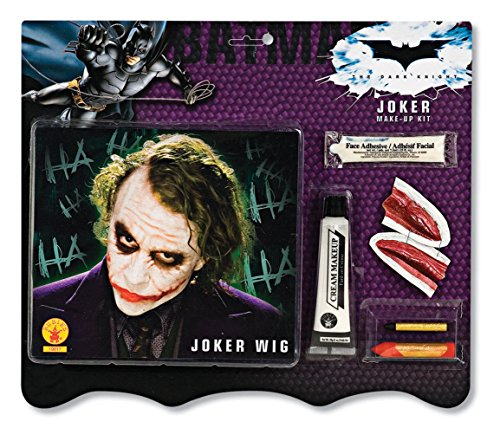 Batman Deluxe Joker Wig And Make Up Kit, Black, One Size -