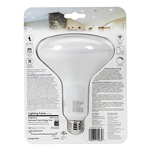 Philips 65W Equivalent Daylight 5000K BR40 Dimmable LED
