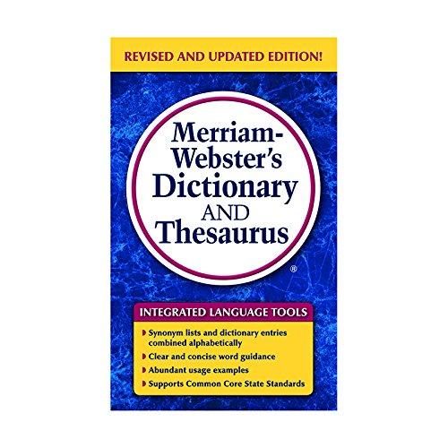 MERRIAM WEBSTERS DICTIONARY & THESAURUS by MERRIAM - WEBSTER INC.