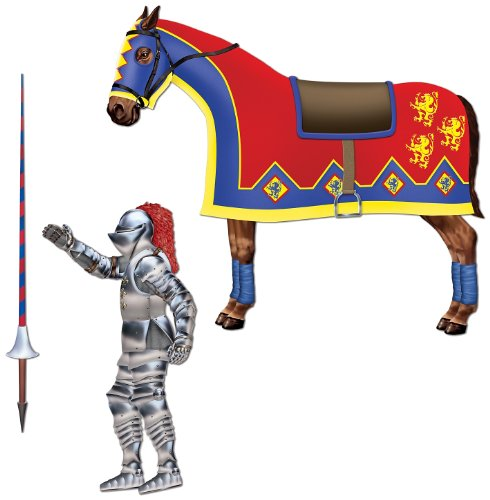 Jointed Jouster (horse & lance cutouts included) (3/Pkg) (Medieval Party Decorations)