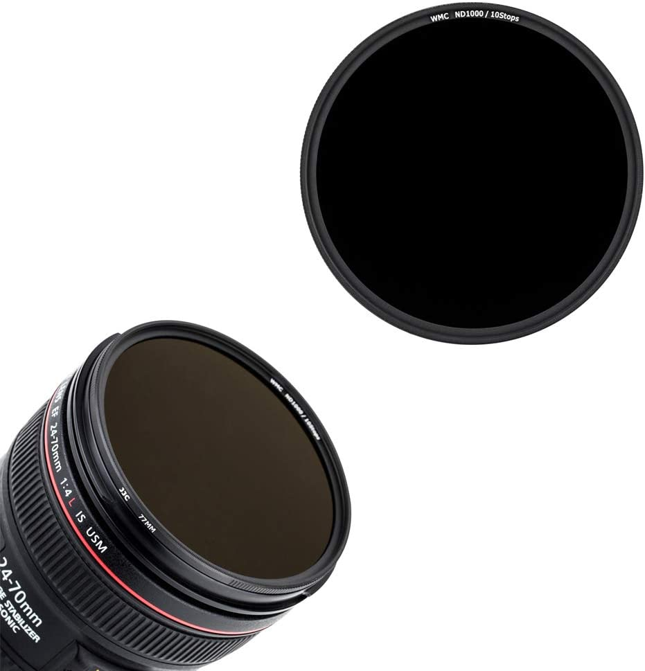 JJC 58mm ND Filter ND1000 10-stop for Canon EOS Rebel T6 T7 T5 T7i T6i T5i T4i SL3 SL2 80D 70D 60D w// EF-S 18-55mm Kit Lens for Fuji Fujifilm X-T3 X-T2 X-T1 X-T30 X-T20 X-T10 w// XF 18-55mm Kit Lens