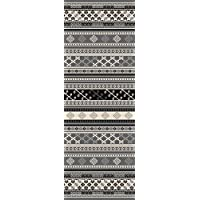 Custom Size GREY Turkish Kilim Rubber Backed Non-Slip Hallway Stair Runner Rug Carpet 31 inch Wide Choose Your Length 31in X 8ft