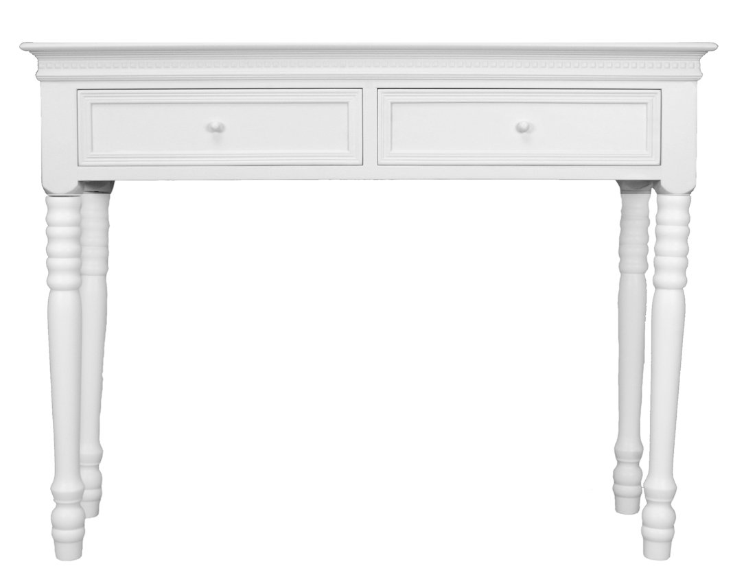 Sylvester Oxford Ltd Belgravia Style Console Table in White