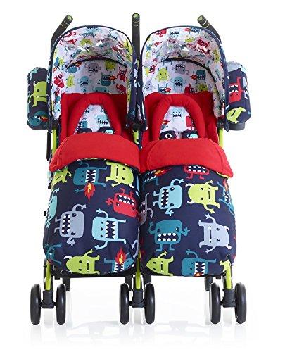 Price comparison product image Cosatto Supa Dupa Cuddle Monster 2 Twin Stroller,  Multi