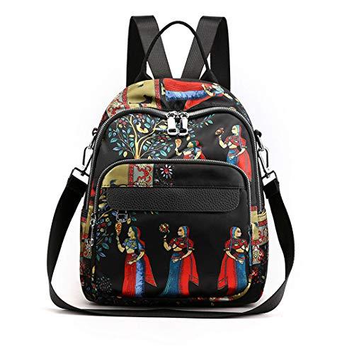 Anti Theft Backpack Waerproof Oxford School Backpack Daypack Backpack Satchel person 25cm 11cm - Bag Signature Satchel Patchwork