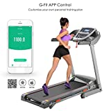 Meoket Electric Treadmill Portable Folding Running Machine Indoor Commercial Home Health Fitness Training Equipment - Gray