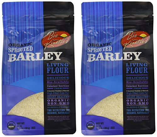 Organic, Sprouted Barley Flour, Non-GMO, Bio-Available with a Great Taste (24 oz) - Pack of 2 (Flour Wheat No)