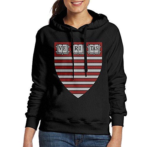 FUOCGH Women's Pullover Harvard H Logo University Hooded Sweatshirt Black XXL]()