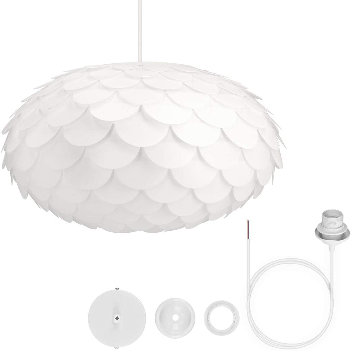 27 cm Gr DIY Puzzle Lampe Lampenschirm Schirm min M in Weiß 15 Designs Ø ca