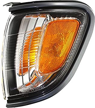 DAT AUTO PARTS Parking Side Marker Light Assembly Replacement for 01-04 Toyota Tacoma with Gray Bezel Left Driver Side TO2520160