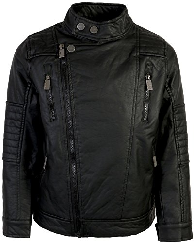 Urban Moto Jacket - Urban Republic Kids Boy's Faux Leather Moto Jacket (Big Kids) Black 10/12