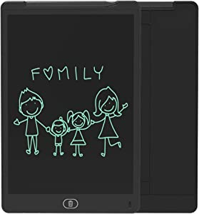 ZenHome LCD Writing Tablet, 12 Inch Electronic Writing and Drawing Board, Erasable Reusable Doodle Pad Tablet for Kids and Adults at Home, School, Office (Black)