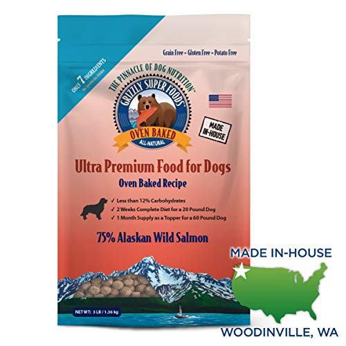 - Grizzly Super Foods Premium Oven Baked Dog Food (3 lb)