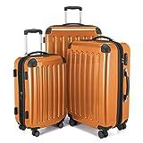 HAUPTSTADTKOFFER Alex Double Wheel Luggage Set 18 different colors Suitcase Set Size (20'24'28') Trolley TSA Orange