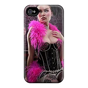 Flexible Tpu Back Case Cover For Iphone 4/4s - Silent