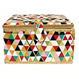 Korbond Sewing Basket Extra Large Kaleidoscope, 100% Cotton, Multicoloured