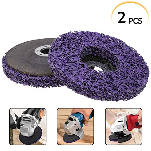 2pcs 5' 125mm Poly Strip Disc Wheel Paint Rust Removal Quick Strip Disc for Angle Grinder