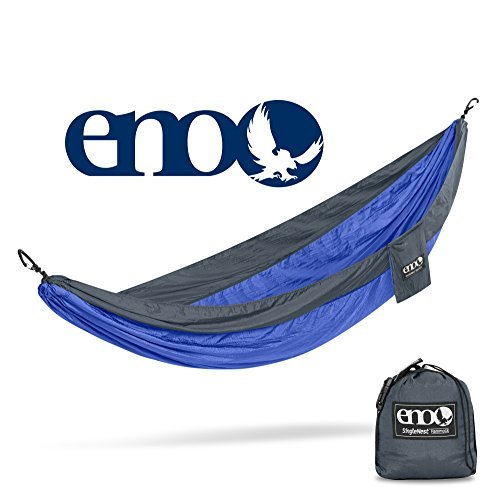 ENO Eagles Nest Outfitters - SingleNest Hammock, Portable Hammock for One, Portable Hammock for One, Charcoal/Royal
