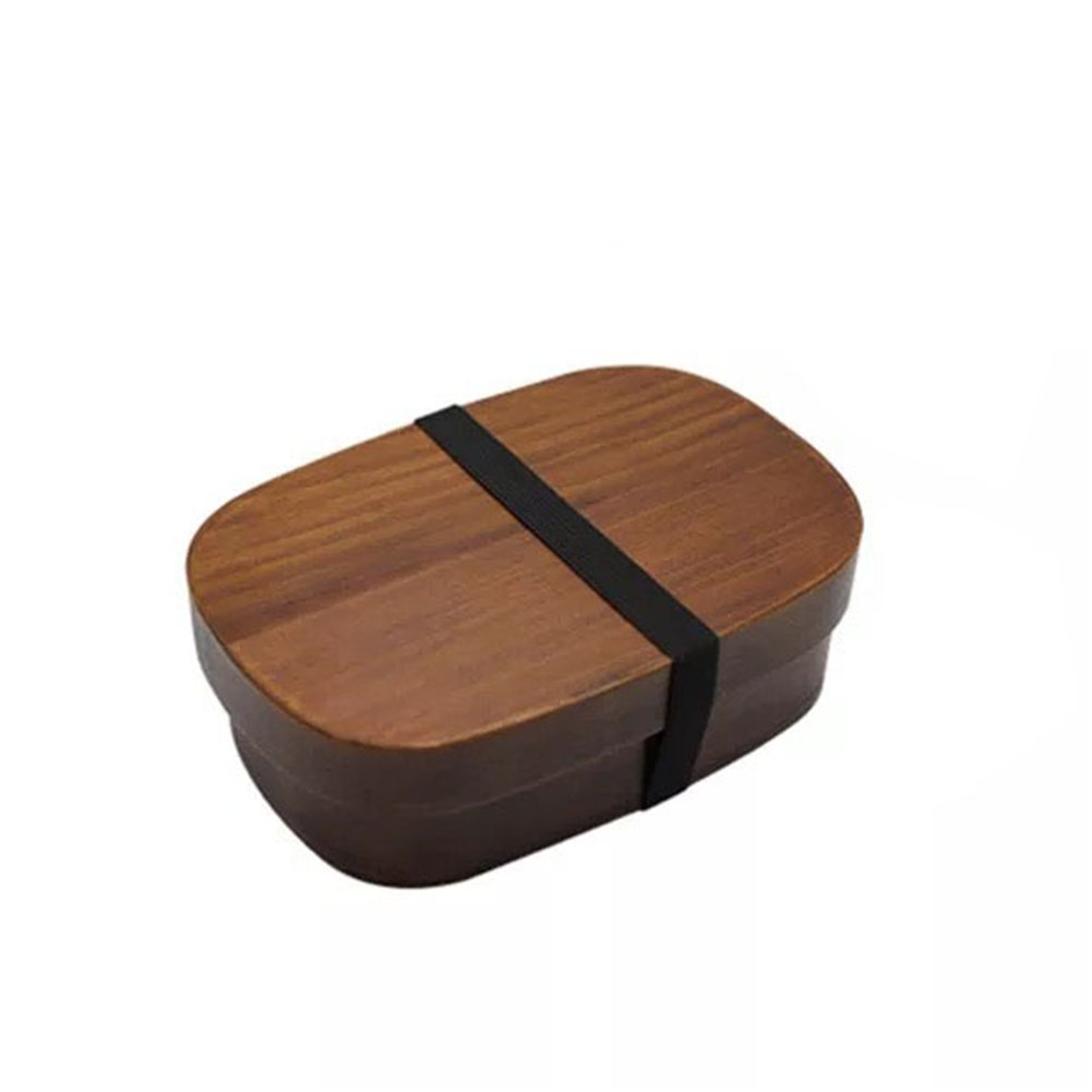 cheerfulus Round Wood Bento Boxes Lunch Box Portable Food Container with Compartments for Adults Kids School Use