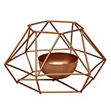 WFZ17 Nordic Geometric Tealight Candle Holders Iron - for Christmas Holiday Wedding and Home Decor Golden L