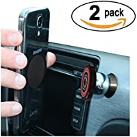 Cell-Mount Magnetic Cell Phone Dash Mount - 2 PACK - LIFETIME GUARANTEE