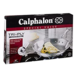 Calphalon Tri-Ply Stainless Steel 10-Inch Omelette Fry Pan