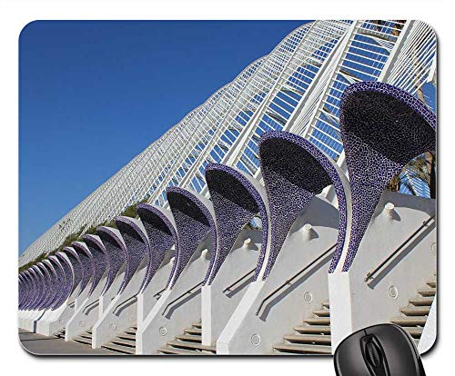 - Mouse Pads - Valencia Spain Night Reflex Light Travel Europe