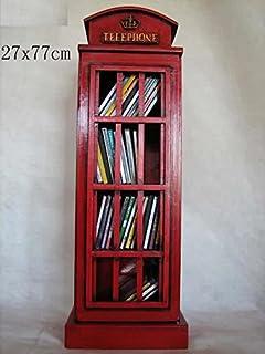 Armoire De Rangement Pour CD/DVD   En Forme De Cabine Téléphonique Anglaise    Rouge