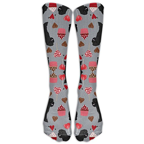 039a4684c2b Black Poodles Dogs Valentines Day Tube Socks Graduated Compression Socks  For Women And Men
