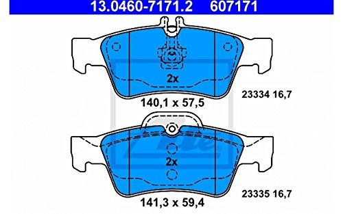 ATE 13.0460-7171.2 4x Bremsbel/äge hinten