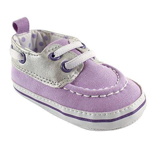 Luvable Friends Girl's Boat Shoe (Infant), Lavender, 6-12 Months M
