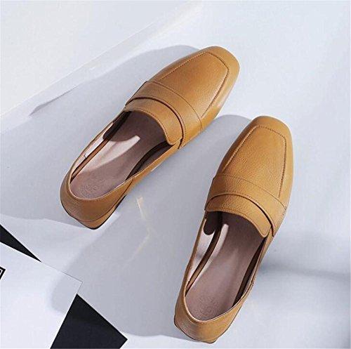 Taille Flâneurs 35To41 xie Fermé pour Ballerine Cuir femmes plate Toe Authentique Chaussures Doux 4P4qRH6