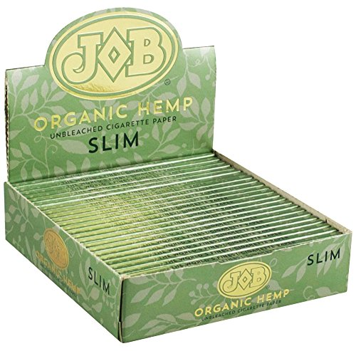 24PC DISPLAY - JOB Organic Hemp Rolling Papers - Slim