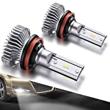 #2: SEALIGHT H11/H8/H16 LED Fog Lights Bulbs Cool Xenon White 4000 Lumen 6000K Upgrade Extremely Bright Polarity Sensitive (Pack of 2)