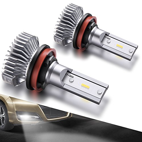 SEALIGHT H11/H8/H16 LED Fog Lights Bulbs Cool Xenon White 4000 Lumen 6000K Upgrade Extremely Bright Polarity Sensitive (Pack of (Buick Fog Light Bulb)