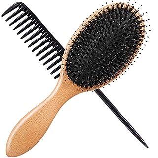 Vinker Hair Brush, Boar Bristle Hairbrush for Wet/Dry Hair Smoothing Massaging Detangling, Everyday Brush Enhance Shine & Health