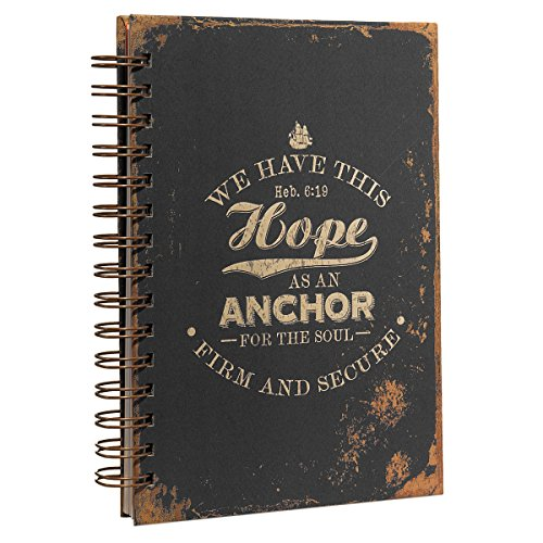 (Hope As An Anchor Large Hardcover Wirebound Journal - Hebrews 6:19)