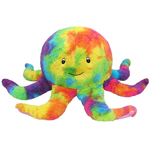 rainbow plush octopus