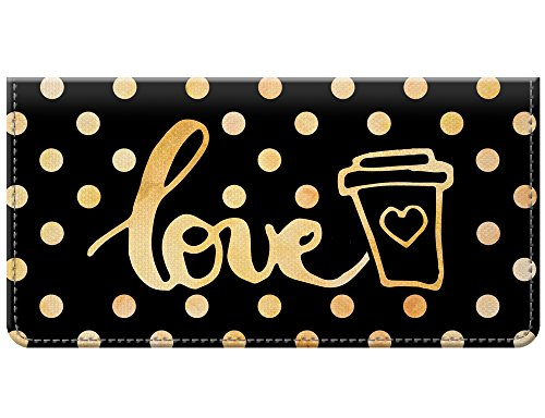 Snaptotes Coffee Drink Lover Design Checkbook Cover