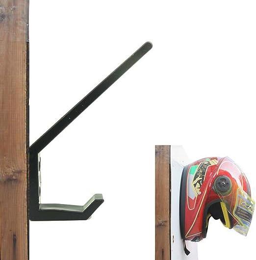 BESPORTBLE Accesorios de La Motocicleta Soporte del Casco Percha de La Chaqueta Tornillos para Rack Montados en La Pared Peluca Soporte de Almacenamiento de Bolas Negro